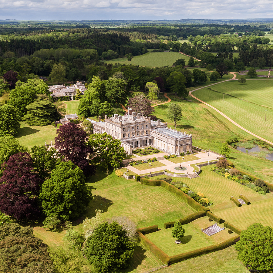Somerley House and Gardens aerial view